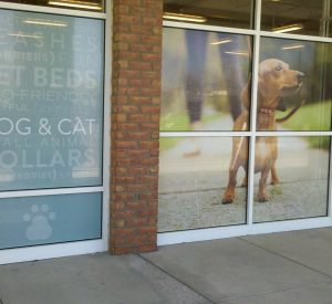 perforated vinyl window film and graphics